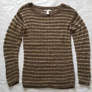 Banana Republic open knit metallic sweater